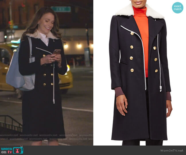 Sullivan Coat by Rag & Bone worn by Liza Miller (Sutton Foster) on Younger