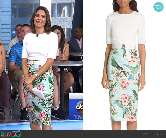 Julieta Nectar Body-Con Dress by Ted Baker worn by Cecilia Vega on Good Morning America