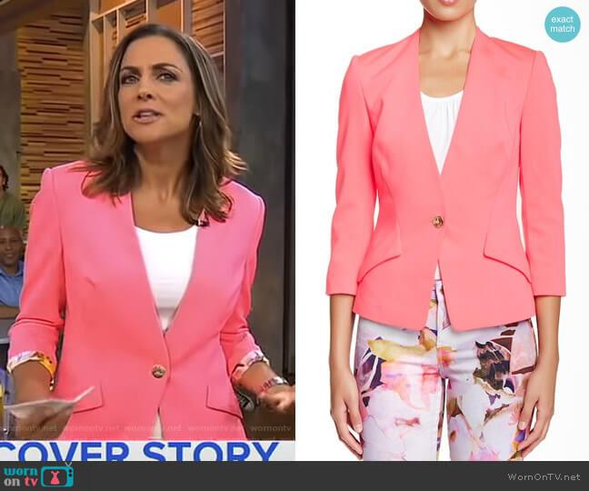 Alisya Ponte Knit Jacket by Ted Baker worn by Paula Faris on Good Morning America