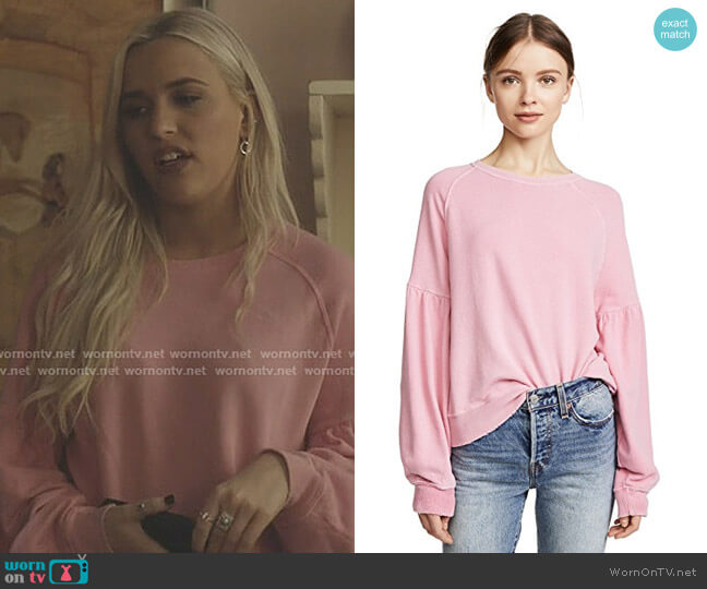 The Bishop Sleeve Sweatshirt by The Great worn by Maddie Jaymes (Lennon Stella) on Nashville