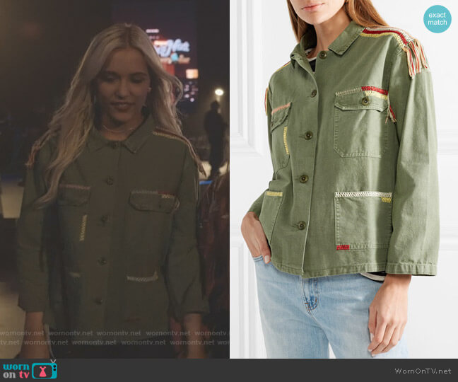 The Sergeant Embroidered Jacket by The Great  worn by Lennon Stella on Nashville