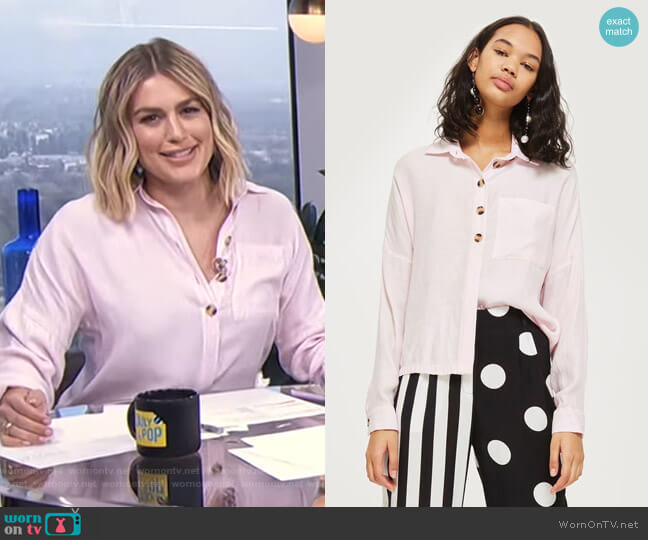 Lightweight Casual Shirt by Topshop worn by Carissa Loethen Culiner  on E! News