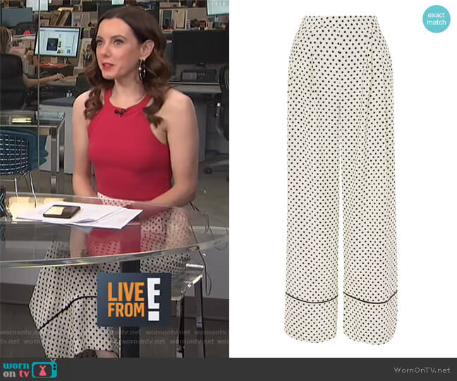 Spot Print Wide Leg Pants by Topshop worn by Melanie Bromley  on E! News