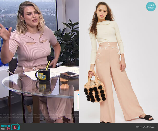 Wide Leg Pants by Topshop worn by Carissa Loethen Culiner on E! News