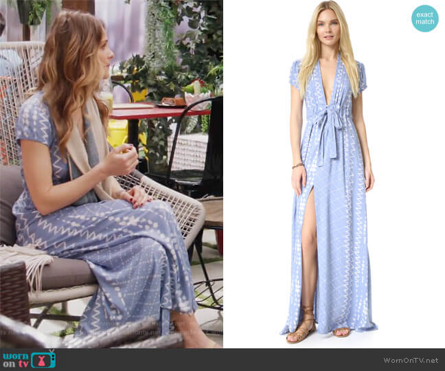 Joel Plunge Dress by Tularosa worn by Beau Garrett on GG2D