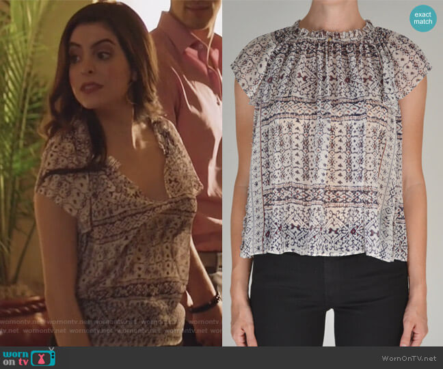 Aryn Top by Ulla Johnson worn by Isabela Vargas (Idalia Valles) on Queen of the South
