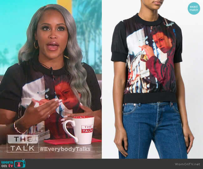 Graphic Print T-shirt by Undercover worn by Eve on The Talk
