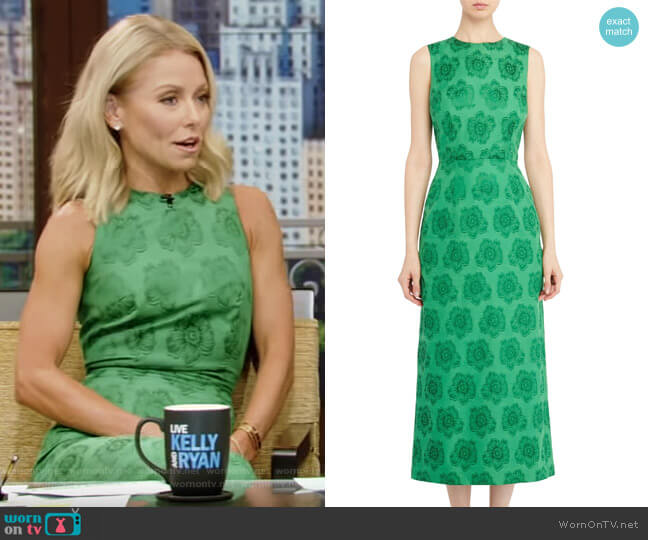 Mermaid Dress In Green by Vampire's Wife worn by Kelly Ripa  on Live with Kelly & Ryan