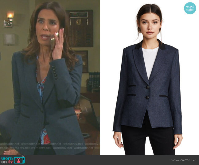 Hudson Jacket by Veronica Beard worn by Kristian Alfonso on Days of our Lives