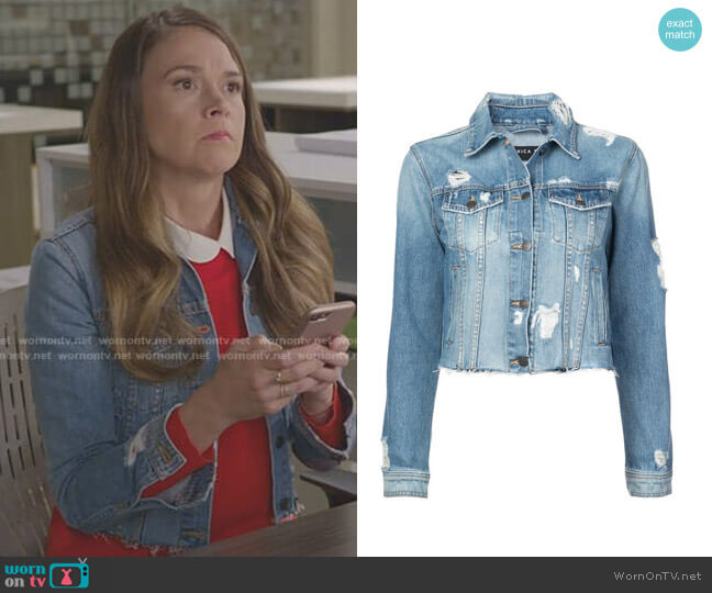 Cara Denim Jacket by Veronica Beard worn by Liza Miller (Sutton Foster) on Younger