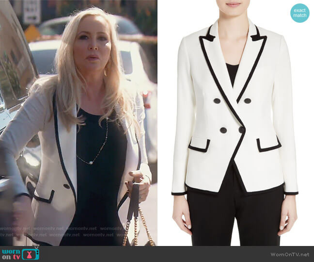 Harriet Contrast Cutaway Blazer by Veronica Beard worn by Shannon Beador (Shannon Beador) on The Real Housewives of Orange County