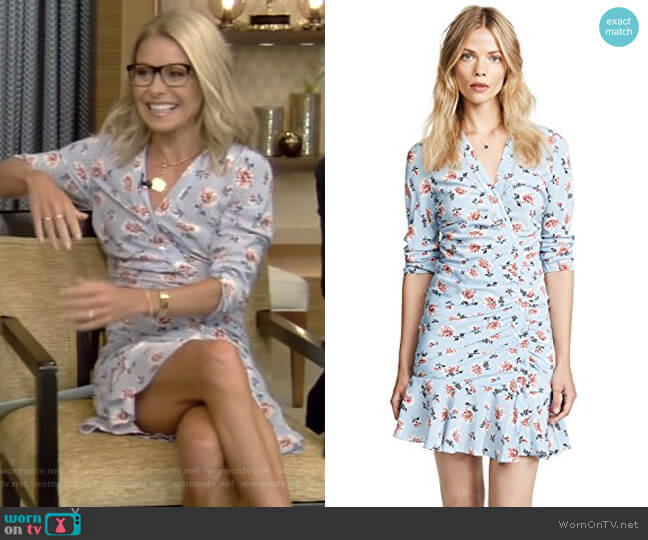 Rowe Dress by Veronica Beard worn by Kelly Ripa on Live with Kelly & Ryan