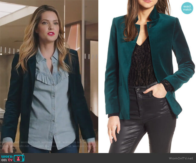 Volly Velours Blazer by Zadig & Voltaire worn by Meghann Fahy on The Bold Type