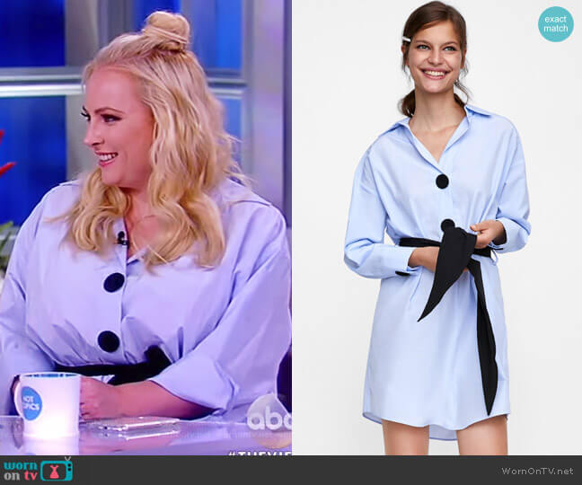 Belted Shirtdress by Zara worn by Meghan McCain on The View