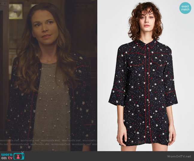 Star Mini Dress by Zara worn by Liza Miller (Sutton Foster) on Younger