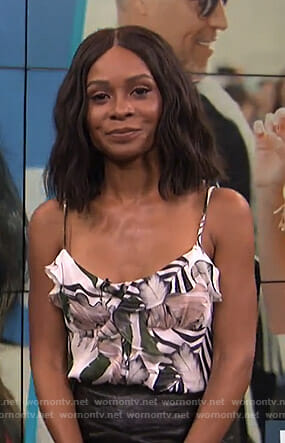 Zuri's printed ruffled camisole on E! News