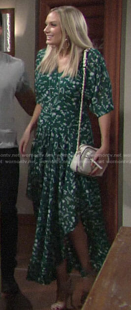 Abby's green floral maxi dress on The Young and the  Restless