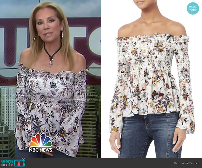 Agra Off-The-Shoulder Blouse by ALC worn by Kathie Lee Gifford on Today