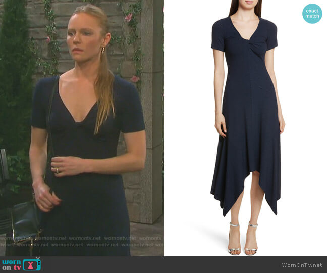 Knotted Rib Knit Midi Dress by ALC worn by Kate Mansi on Days of our Lives