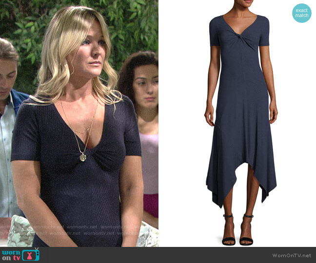 ALC Reva Dress worn by Sharon Case on The Young & the Restless
