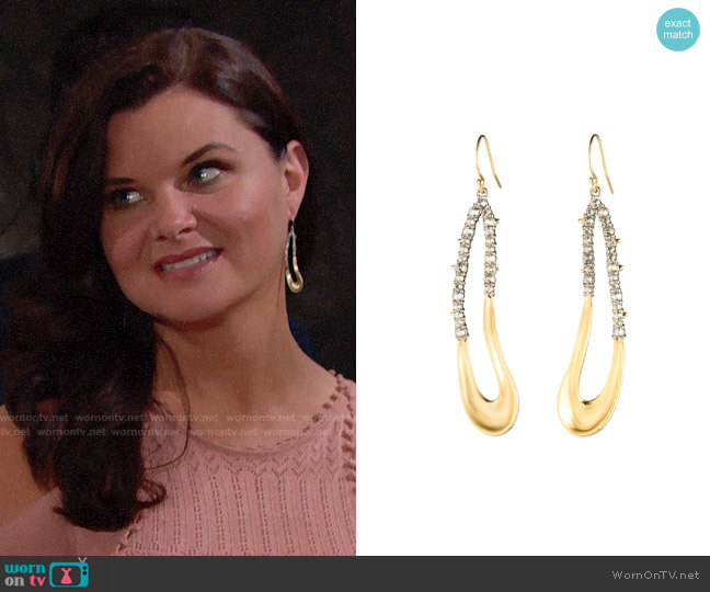 Alexis Bittar Freeform Drop Earrings worn by Katie Logan (Heather Tom) on The Bold & the Beautiful