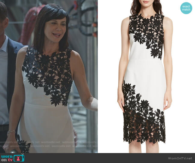 'Margy' Sheath Dress by Alice + Olivia worn by Catherine Bell on Good Witch