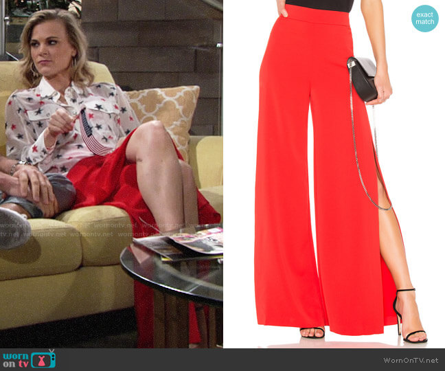 Alice + Olivia Florinda Pants worn by Phyllis Newman (Gina Tognoni) on The Young & the Restless