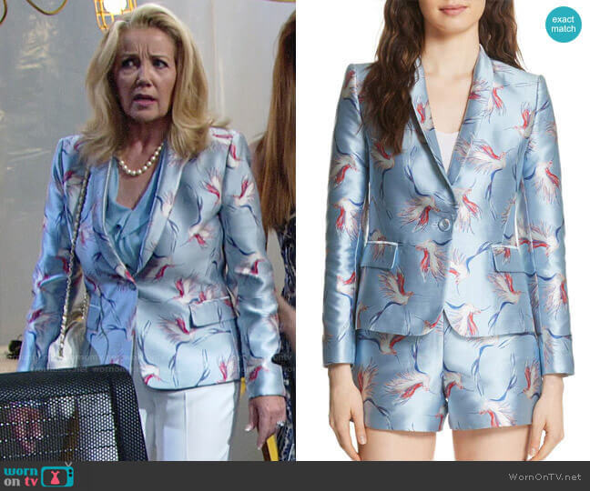 Alice + Olivia Macey Jacket worn by Melody Thomas-Scott on The Young & the Restless