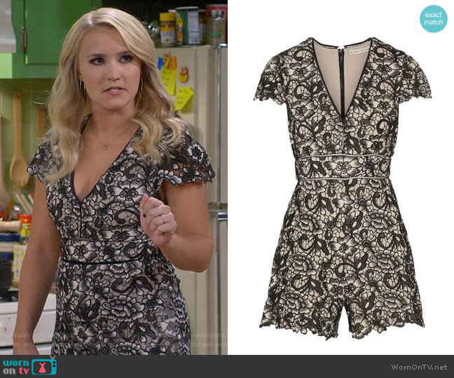 Alice + Olivia Tinsley Romper worn by Gabi Diamond (Emily Osment) on Young & Hungry