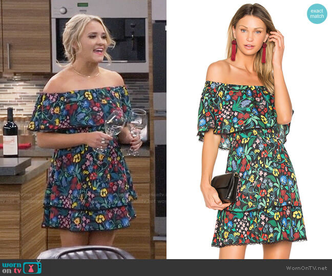 Alice + Olivia Tylie Dress worn by Gabi Diamond (Emily Osment) on Young & Hungry