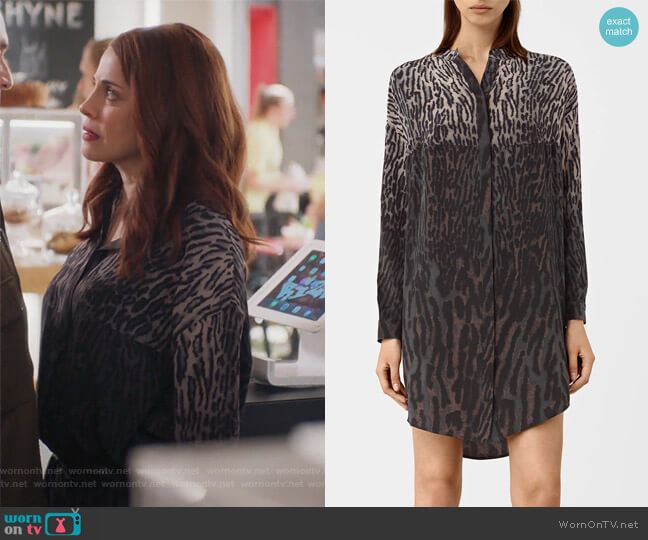 Helle Sinai Silk Dress by All Saints worn by Alanna Ubach on GG2D