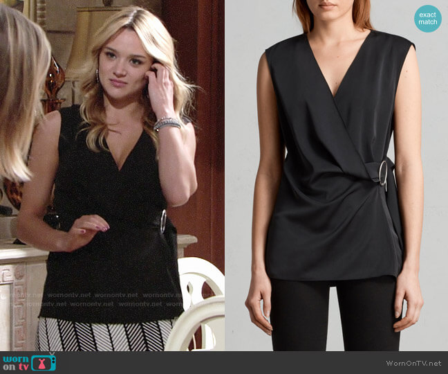 All Saints Callie Top worn by Summer Newman (Hunter King) on The Young & the Restless