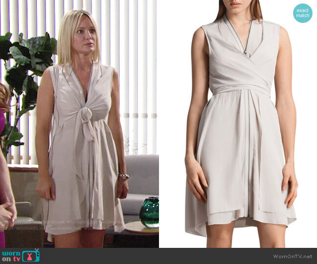 All Saints Jayda Dress worn by Sharon Case on The Young & the Restless