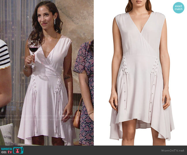 All Saints Miller Dress worn by Lily Winters (Christel Khalil) on The Young & the Restless