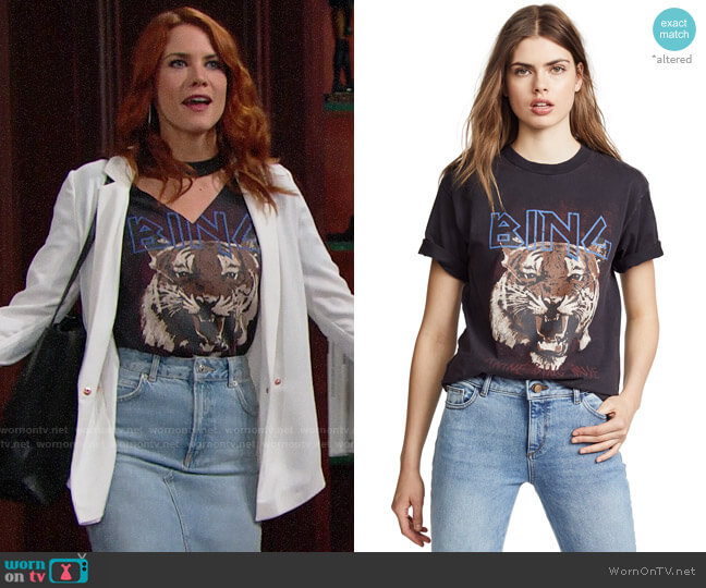 Anine Bing Tiger Tee worn by Courtney Hope on The Bold & the Beautiful