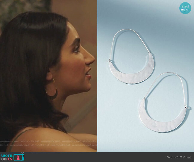 Crescent Hoops by Anthropologie  worn by Adena El-Amin (Nikohl Boosheri) on The Bold Type