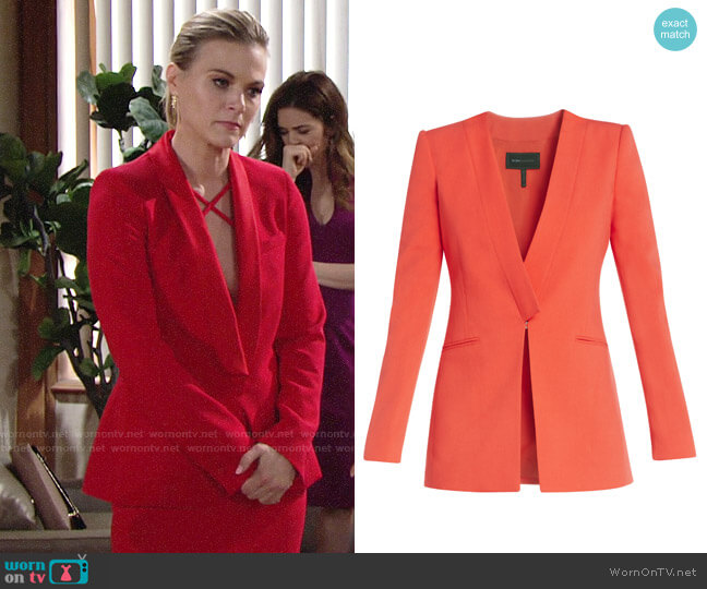 Bcbgmaxazria Andres Blazer worn by Gina Tognoni on The Young & the Restless