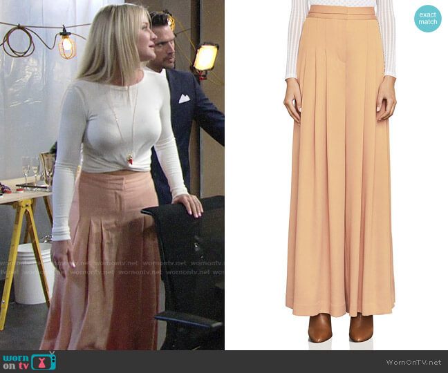 Bcbgmaxazria Brandy Pleated Pants worn by Sharon Case on The Young & the Restless