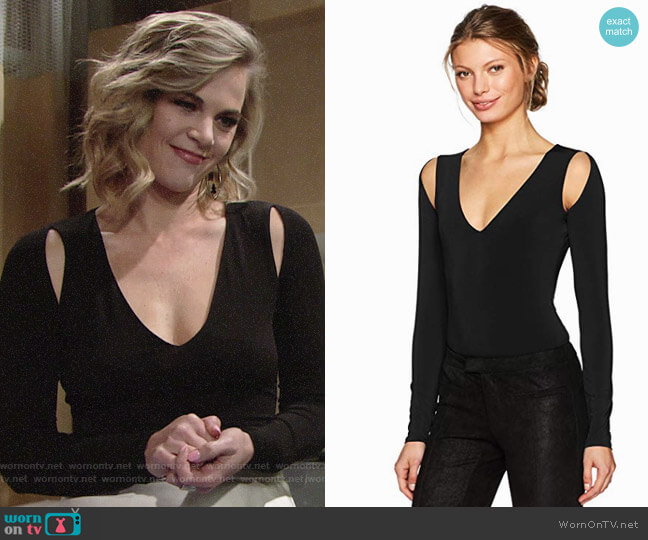 Bcbgmaxazria Hilda Bodysuit worn by Gina Tognoni on The Young & the Restless