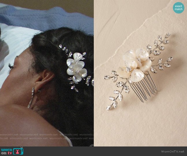 BHLDN Azalea Comb worn by Mishael Morgan on The Young & the Restless
