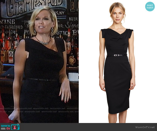 Black Halo Jackie O Dress worn by Ava Jerome (Maura West) on General Hospital