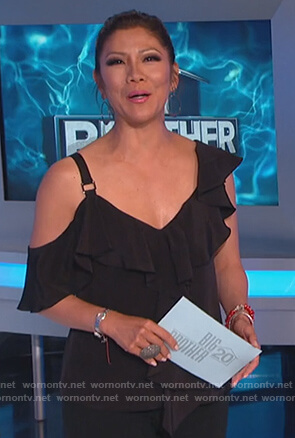 Julie's black ruffled top on Big Brother