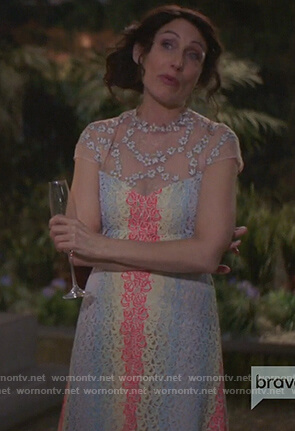 Abby's multicolored lace midi dress on Girlfriends Guide to Divorce
