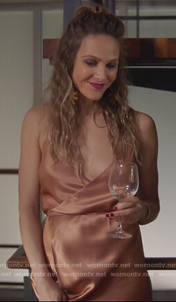 Phoebe's wrap maxi dress on Girlfriends Guide to Divorce