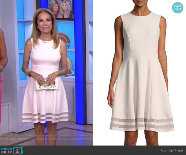Sleeveless Fit & Flare Dress by Calvin Klein worn by Kathie Lee Gifford  on Today