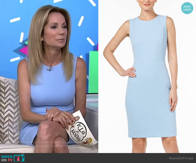 Scuba Crepe Sheath Dress by Calvin Klein worn by Kathie Lee Gifford  on Today