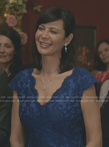 Cassie's blue lace gown on Good Witch