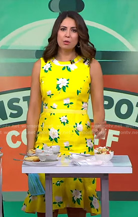 Cecilia's yellow floral dress on Good Morning America