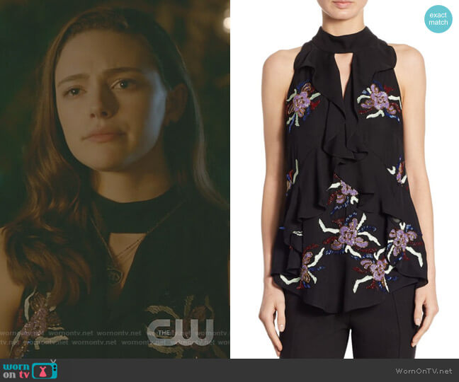 Moma Ruffle Silk Top by Cinq a Sept worn by Hope Mikaelson (Danielle Rose Russell) on The Originals