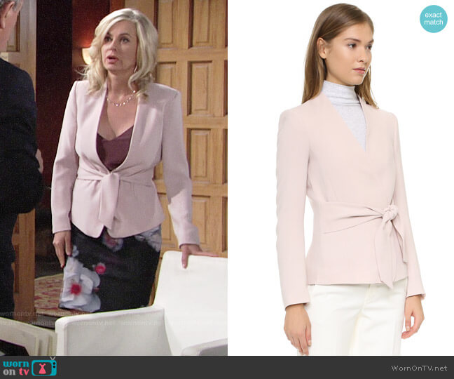 Club Monaco Itzel Jacket worn by Ashley Abbott (Eileen Davidson) on The Young & the Restless